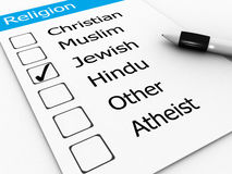 Jewish, religion word Stock Image