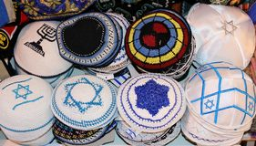 Jewish religious caps Royalty Free Stock Photography