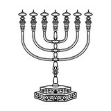 Jewish religious symbol menorah  on white background Stock Photography