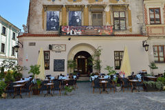 Jewish restaurant in Lublin. City in Poland. Stock Photo