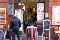Jewish restaurant in Rome Stock Photography