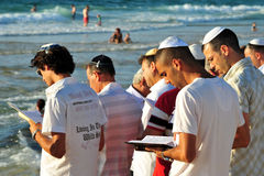 The Jewish Ritual - Tashlich Stock Photos