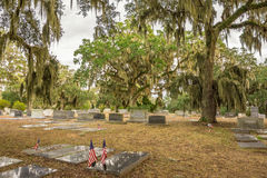Jewish section of the Bonaventure Cemetery in Savannah, Georgia Stock Image