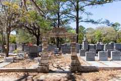 Jewish Section of Historic Bonaventure Cemetery Royalty Free Stock Image