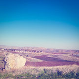 Jewish Settlement. In the Judean Mountain, Instagram Effect Royalty Free Stock Photo