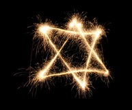 Jewish sparkler. On black background Royalty Free Stock Image
