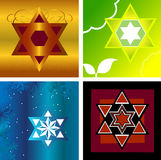 Jewish star. S of David - Four different resolutions Stock Image