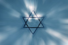 Jewish star. Star of David the symbol of the jewish religion Stock Photo