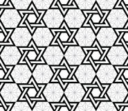 Jewish, Star of David black seamless pattern Stock Photography