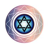 Jewish Star of David. Symbol for Hanukkah or Jewish New Year vector illustration