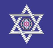 Jewish star design - illustration. Jewish star design with chai symbol - illustration royalty free illustration