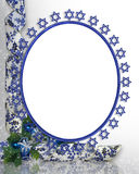 Jewish Star Frame royalty free stock image