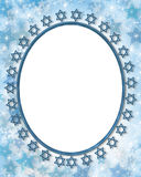 Jewish Star Frame Stock Photography