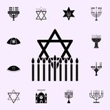 Jewish star hanukkah icon. Hanukkah icons universal set for web and mobile. On white background stock illustration