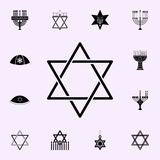 Jewish star icon. Hanukkah icons universal set for web and mobile. On white background vector illustration