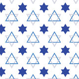 Jewish star pattern Royalty Free Stock Photos