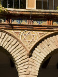 Jewish star in a street of  Europe. Stock Photo