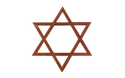 Jewish star. On a white background stock photos