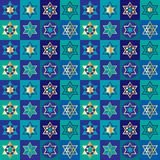 Jewish stars checkerboard background pattern. Jewish stars checkerboard background  pattern Royalty Free Stock Image
