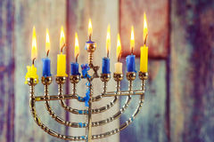 jewish symbol Hanukkah, jewish holiday the Festival of Lights royalty free stock image