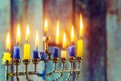Jewish symbols Hanukkah, the Jewish Festival of Lights Royalty Free Stock Photos