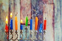 Jewish symbols Hanukkah, the Jewish Festival of Lights Stock Photography