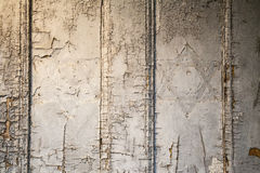 Jewish symbols. Stars of David on an old door with cracked paint Stock Photography