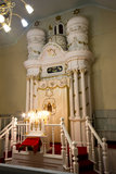 Jewish Synagogue. The front area of a Jewish Synagogue. Can be used for Jewish religion or religious uses stock images