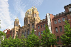 Jewish synagogue in berlin Royalty Free Stock Images