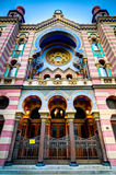 Jewish synagogue in Prague, Czech republic Royalty Free Stock Photography
