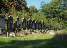 Jewish tombs. Jewish cemetery in Lodz. Burial place of industrialists, bankers, Holocaust and ordinary people Royalty Free Stock Photography