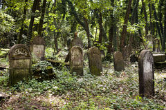 Jewish Tombs in very old cemetery. Jewish tomb in old cemetery, good picture for halloween and All Souls' Day Royalty Free Stock Photo