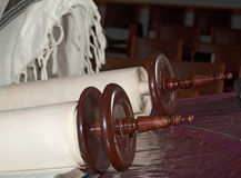 Jewish Torah scroll detail Stock Image