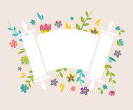 Jewish Torah surrounding with fresh vintage. Flowers vector illustration