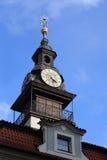 Jewish Town Hall clocks Royalty Free Stock Image