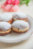 Jewish traditional holiday Hannukah doughnuts. Home made Jewish traditional holiday Hannukah doughnuts Stock Images