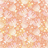 Jewish traditional holiday Hannukah. Seamless pattern. Royalty Free Stock Image