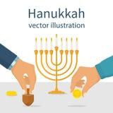 Jewish traditional holiday vector illustration