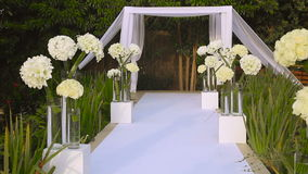 Jewish traditions wedding ceremony. Wedding canopy (chuppah or huppah). stock video footage