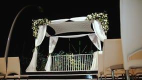 Jewish traditions wedding ceremony. Wedding canopy (chuppah or huppah). stock footage & Jewish Traditions Wedding Ceremony. Wedding Canopy (chuppah Or ...