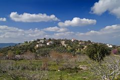 Jewish Village in the Galilee. The Jewish Village of Michmanim in the Galilee Israel Royalty Free Stock Photography