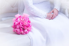 Jewish wedding. Bridal Bouquet. Zer kalah Stock Photos