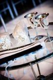 Jewish wedding ceremony. Traditional items used in a jewish wedding ceremony Stock Photos