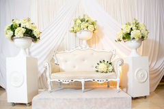 Jewish wedding. Chair of the bride Stock Photo