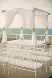 Jewish wedding chuppah. In Israel Stock Photo