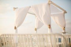 Jewish wedding chuppah. Sky see view Stock Photo
