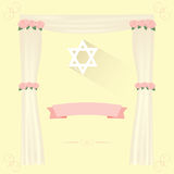 Jewish wedding elements invitation. Stock Photography