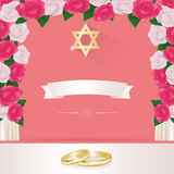 Jewish wedding elements for invitation design. Royalty Free Stock Images