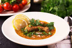 Jewish wedding and holyday Yemenite beef soup Marak Temani. Traditional jewish wedding and holyday Yemenite vegetable beef soup Marak Temani. Yom Kippur. Israeli Royalty Free Stock Photography