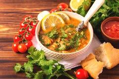 Jewish wedding and holyday Yemenite beef soup Marak Temani. Traditional jewish wedding and holyday Yemenite vegetable beef soup Marak Temani. Yom Kippur. Israeli stock image